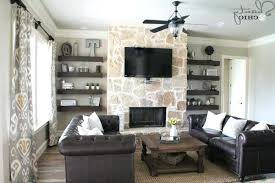 Living Room With Fireplace And Bookshelves by Floating Shelves For Fireplace Modern Fireplace Storage Shelves