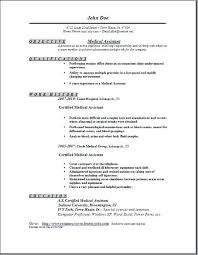 Example Of A Medical Assistant Resume Resumes Examples Entry