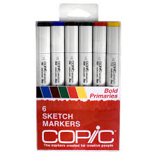 Michaels Canada Art Desk by Copic Sketch Marker Set Bold Primaries