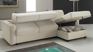 canapé lit angle réversible couchage 140 cm tissu blanc cassé prix bas