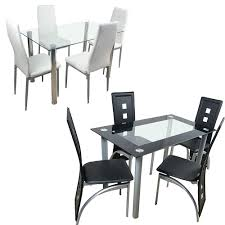US $142.99 |US Shipping Dining Table Set Glass Steel W/4 Chairs Kitchen  Room Breakfast Furniture Black White-in Dining Tables From Furniture On ... Aldridge High Gloss Ding Table White With Black Glass Top 4 Chairs Rowley Black Ding Set And Byvstan Leifarne Dark Brown White Fnitureboxuk Giovani Blackwhite Set Lorenzo Chairs Seats Cosco 5piece Foldinhalf Folding Card Garden Fniture Set Quatro Table Parasol Black Steel Frame Greywhite Striped Cushions Abingdon Stoway Fads Hera 140cm In Give Your Ding Room A New Look Rhonda With Inspire Greywhite Kids Chair