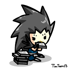 Chibi Gajeel Lunch Time By TimTam13