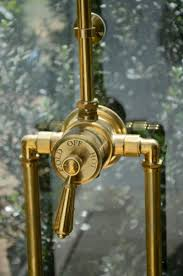 Unlacquered Brass Lavatory Faucet by Waterworks Exposed Thermostatic Shower Valve Bath Pinterest