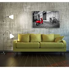 postereck 2650 poster leinwand roter roller italien schwarz