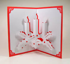 Pop Up Greeting Cards Making Christmas Candles 3d Card Home Dcor Handmade Free