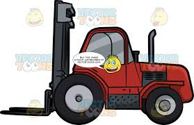 100 Powered Industrial Truck A Rough Terrain Forklift Clipart Cartoons By VectorToons