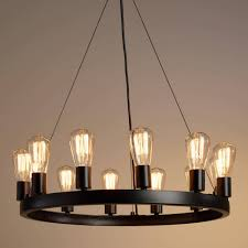 chandelier edison bulb pendant fashioned filament light