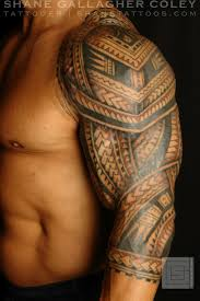 Popular Amongst Muscular Men Is The Tribal Tattoo In Block Woven Together Sections Within Tend To Follow Natural Muscle Lines