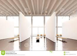 expo musee moderne galerie moderne de l espace d exposition de photo toile vide
