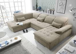 funktionale wayne sofa schlafcouch bettsofa schlafsofa sofabett wohnlandschaft ausziehbar beige ottomane links u form
