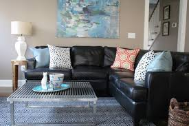 Brown Sofa Decorating Living Room Ideas by Living Room Design With Black Leather Sofa Onyoustore Com