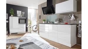 küchenzeile jazz 4 einbauküche weiß hochglanz mit e geräten
