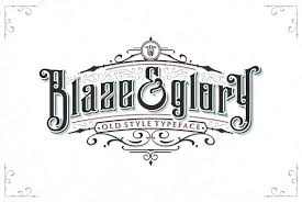 Blaze & Glory Typeface Extras Blackletter Fonts Creative Market