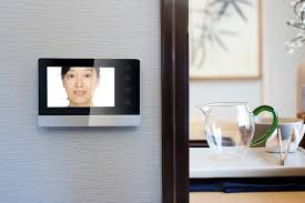Intercom Video Door Bell On Wall Outside Modern Dining Room Home Automation Doorbell Camera Systems Smart San Luis Obispo Santa Barbara
