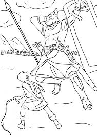 David And Goliath Bible Story Coloring Pages