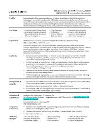 Resume Examples Templates Free Sample Retired Military