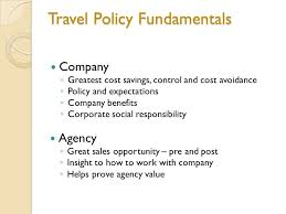 3 Travel Policy Fundamentals Company O Greatest