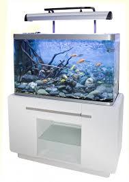 aquarium osaka 320 310l blanc glossy white avec meuble aquarium