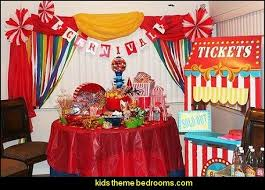 Circus Under The Big Top Theme Birthday Party Decorating Ideas