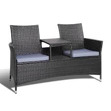 Gardeon 2 Seater Outdoor Wicker Bench - Black Amazoncom Valita Outdoor Black Rattan Lounge 2 Piece 53 Resin Wicker Recliner Spray Pating Plastic Garden Chairs Seating Allibert Kensington Club 110cm Table Grey With 4 Recling Ding Armchairs Costway 6piece Patio Fniture Set Sectional Sofa Couch Yard Wblack Cushion Gorgeous Chairs Room Bedroom Target Sundeck Sjlland Table4 Recling Outdoor Dark Grey Frsnduvholmen Red And Tags High Top Pe Chaise Chair Beach Pool Adjustable Backrest Recliners Olive Green Moltes Seater Exists In 3 Colours Amusing Wooden Side