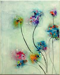 Flower Painting Original Abstract By MilaSchoeneberg