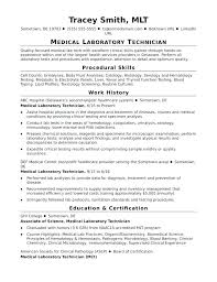 Certified Medical Technician Resume Dental Sample Entry Level Lab Monster Com