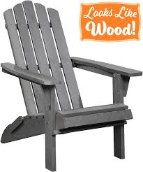 PolyTEAK Classic Full-Size Folding Adirondack Chair, Stone Gray - Looks  Like Wood | All Weather Waterproof Material | Poly Resin Plastic Adirondack  | ... Black Resin Adirondack Chairs Qasynccom Outdoor Fniture Gorgeus Wicker Patio Chair Models With Fish Recycled Plastic Adirondack Chairs Muskoka Tall Lifetime 2pack Poly Adams Mfg Corp Stackable Plastic Stationary With Gracious Living Walmart Canada Rocking