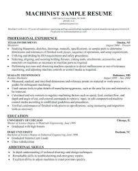 Machinist Resume Objective Thevillas Co Rh CNC Template Master
