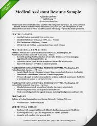 Medical Assistant Resume Sample Examples