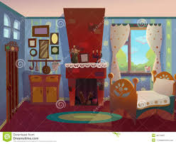 Royalty Free Illustration Download Grannys Living Room Drawn In Cartoon