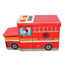 100 Big Red Fire Truck Hopscotch QUIRKY MONKEY Engine Foldable Storage Box