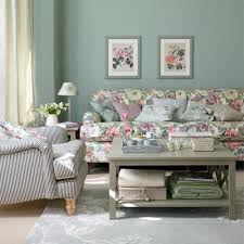 Aquamarine Country Living Room Hg British Style Space Decoration Ideas