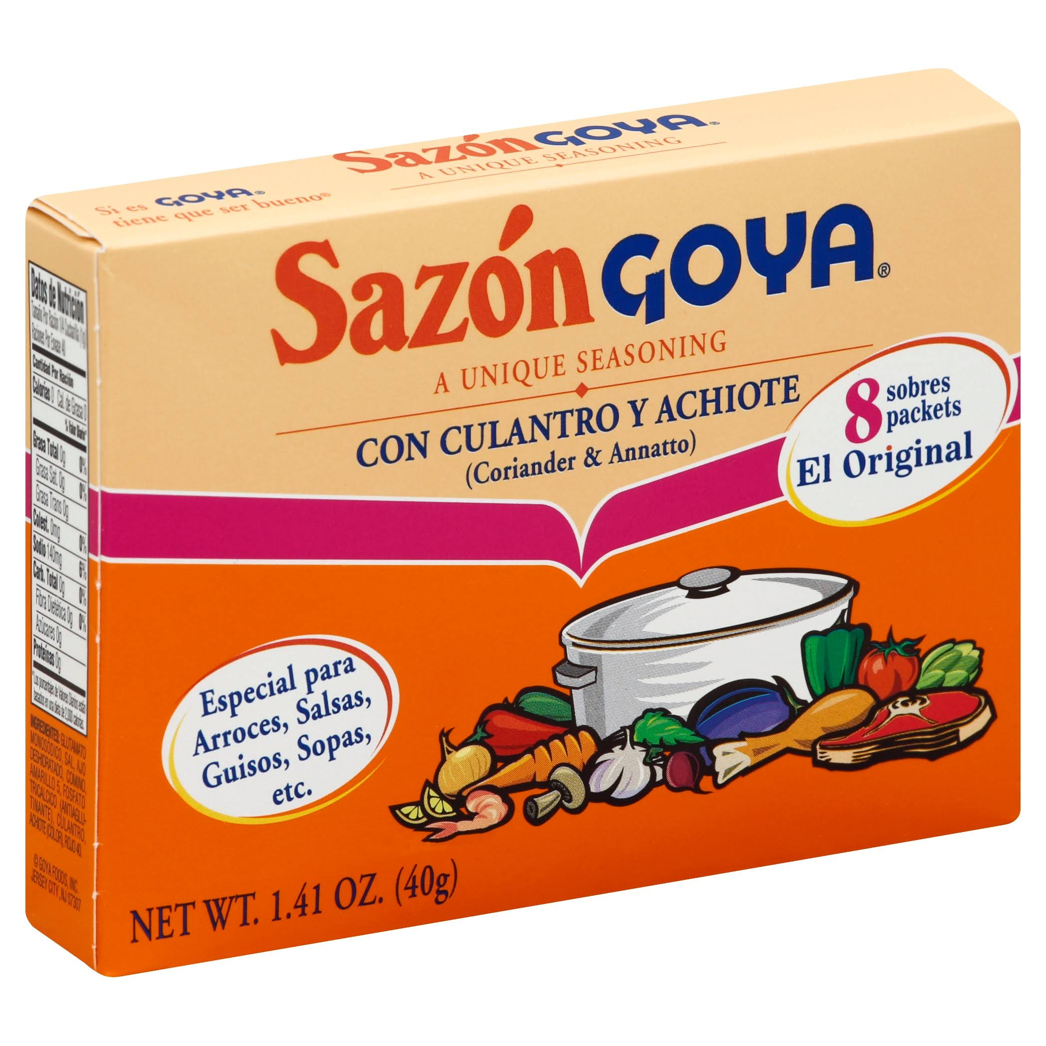 Sazon Goya Cilantro Achiote Seasoning - 1.41oz