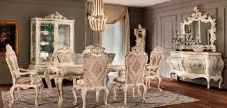 Classic Dining Table Wooden Rectangular Extending