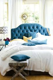 Blue Velvet King Headboard by Best 25 Blue Headboard Ideas On Pinterest Navy Headboard Navy