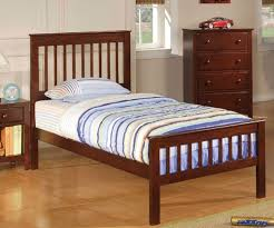 Poundex Furniture F9207 cherry kids twin bed kid bedroom furniture