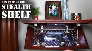 Diy Hidden Gun Cabinet Plans by How To Make The Stealth Shelf Homemade Concealment Shelf Youtube