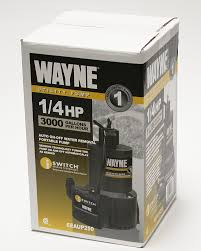 Floor Drain Backflow Preventer Home Depot by Wayne Eeaup250 1 4 Hp Automatic On Off Electric Water Removal Pump