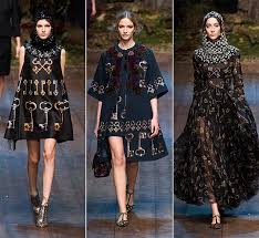 Fall Winter 2014 2015 Print Trends Key Prints Rose On The Black Background