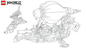 Lego Ninjago Dragon Coloring Pages Golden