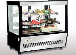 Air Cooling Countertop Bakery Display Case 120L 160L LED Light Digital Dixell Controller