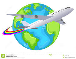 Flight Clipart World Travel 2