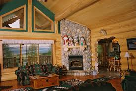 Cabin House Design Ideas Photo Gallery by Decoration Ideas Looking Green Pattern Sofa And Brown Wooden