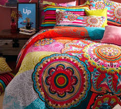 Coral Colored Bedding by Colorful Quilt Sets Coral Colored Quilt Sets Beautiful Bohemian