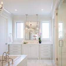 Chandelier Over Bathtub Soaking Tub by Best 25 White Master Bathroom Ideas On Pinterest Master