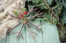 Handmade Christmas Ornament Rustic Twig Snowflake