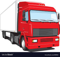 Red Semi Truck Royalty Free Vector Image - VectorStock