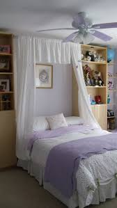 Twin Metal Canopy Bed Pewter With Curtains by Upcycle Ikea Billy Bookcases Bowed Shower Curtain Rod Lace