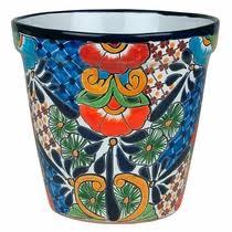 Medium Tapered Talavera Flower Pot
