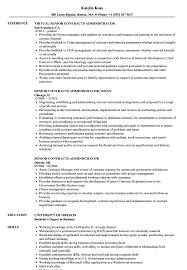 Senior Contracts Administrator Resume Samples Velvet Jobs Rh Velvetjobs Com Contract Administration Examples Manager Sample